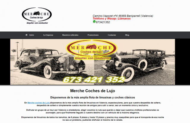 merche coches de lujo albal